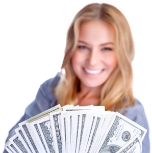 Dollars and woman